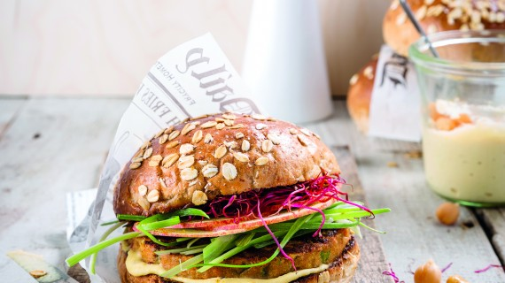 Meze-inspirert vegetarburger