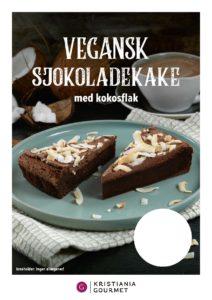 Vegansk Sjokoladekake med Kokos